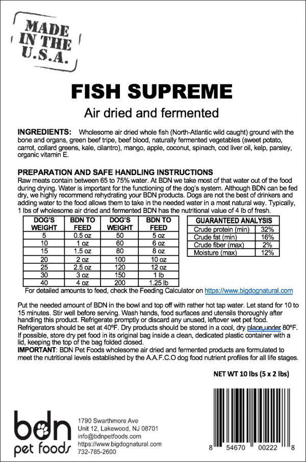 Fish Supreme Ingredients